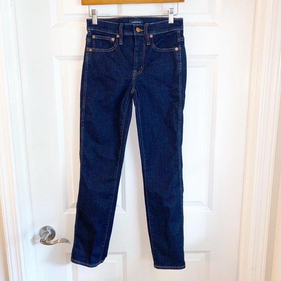 J. Crew Women's Vintage Straight Dark Wash Jeans